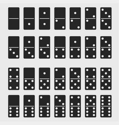 domino full set dominoes bones signs isolated vector image