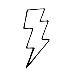 doodle for design lightning vector image