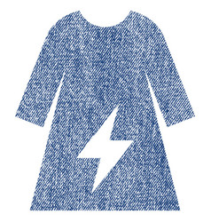Electricity female dress fabric textured icon vector