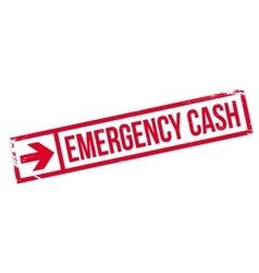 Emergency Cash rubber stamp vector