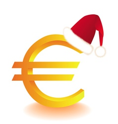 euro currency xmas vector image