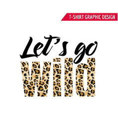 Fashionable tshirt design with leopard pattern vector