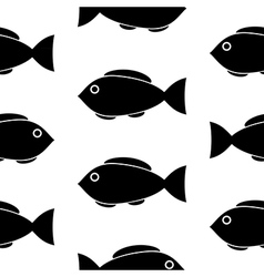 Fish symbol seamless pattern vector image