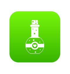 flask of love elixir icon digital green vector image