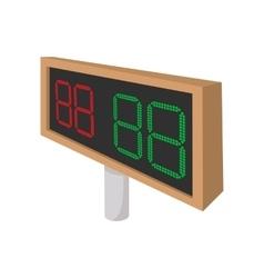 Football scoreboards cartoon icon vector