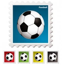 Football world stamp vector