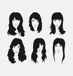 girl hairstyle and haircut with face vector image