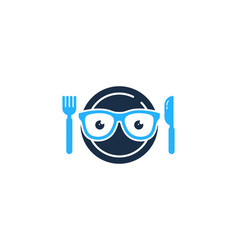 Glasses food logo icon design vector