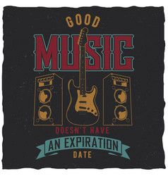 good music poster vector image