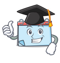 graduation calendar character cartoon style vector image
