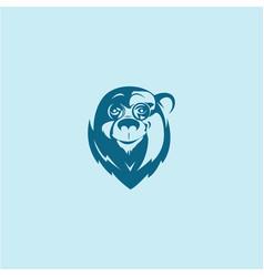 head bear logo vector image