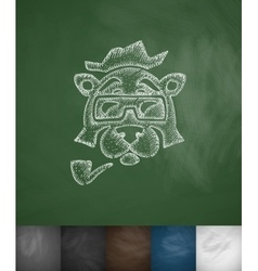 Hipster animal icon Hand drawn vector