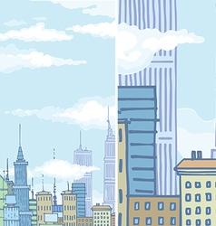 Huge city buildings vector