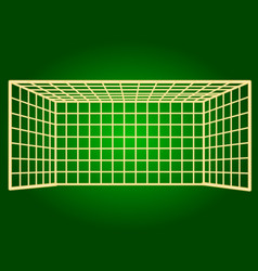 Icons soccer gate thin lines vector