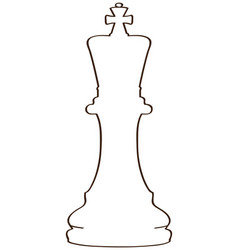 isolated king piece vector image