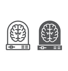 machine learning line and glyph icon data vector image