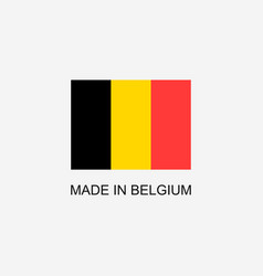 made in belgium sign vector image