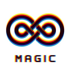 Magic eternity distortion blur emblem vector