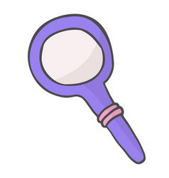 magnifying glass color doodle icon search symbol vector image