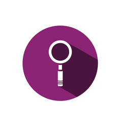 magnifying glass icon on a purple circle vector image