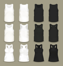 male and female blank slim-fitting t-shirts vector image