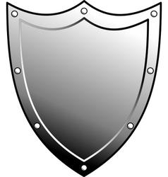 metal heraldic shield vector image