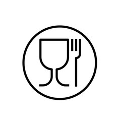 Non-toxic material symbol glass and fork vector