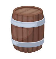 oak barrel beer a barrel in which beer is brewed vector image