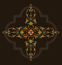 oriental ornament design vector image