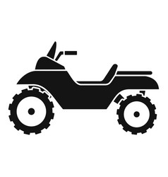 racing quad bike icon simple style vector image