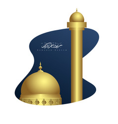 ramadan kareem with masjid background vector image