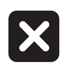 rejected icon design vector image