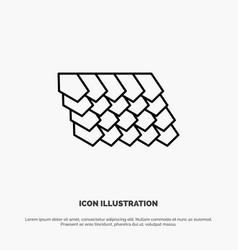 Rotile top construction line icon vector