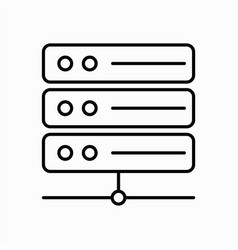 server icon with line style and white background vector image
