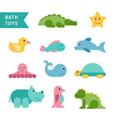 Set cute animals vector