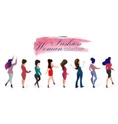 Set fashion woman collection vector