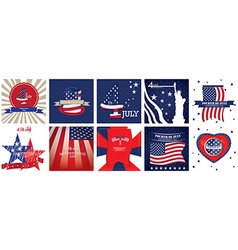 Set independence day 4th july american vector