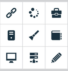 Set of simple design icons vector