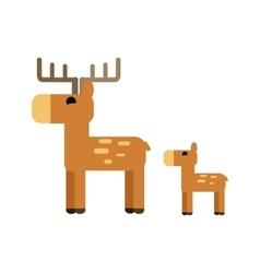 Sika Deer in Flat Design vector