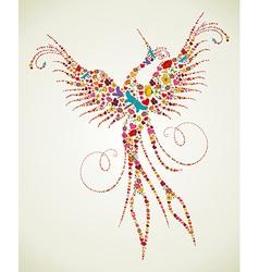 Spring Pheonix bird texture vector