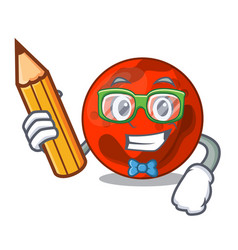 Student mars planet character cartoon vector