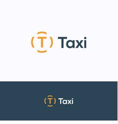 t taxi logo vector image
