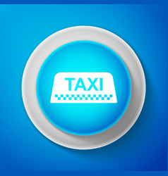 taxi car roof sign isolated on blue background vector image