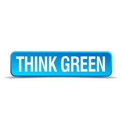 think green blue 3d realistic square isolated vector image