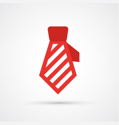 tie trendy symbol trendy colored vector image