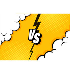 Versus vs letters fight backgrounds in flat vector
