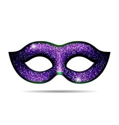 Violet shining carnival mask vector