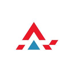 a letter logo vector image