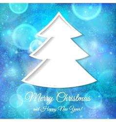 Abstract tree with Christmas and New Year vector image