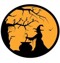 halloween button vector image